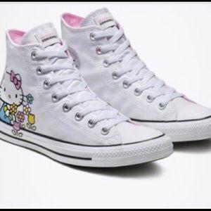 Hello Kitty White Converse  Hightops NWT